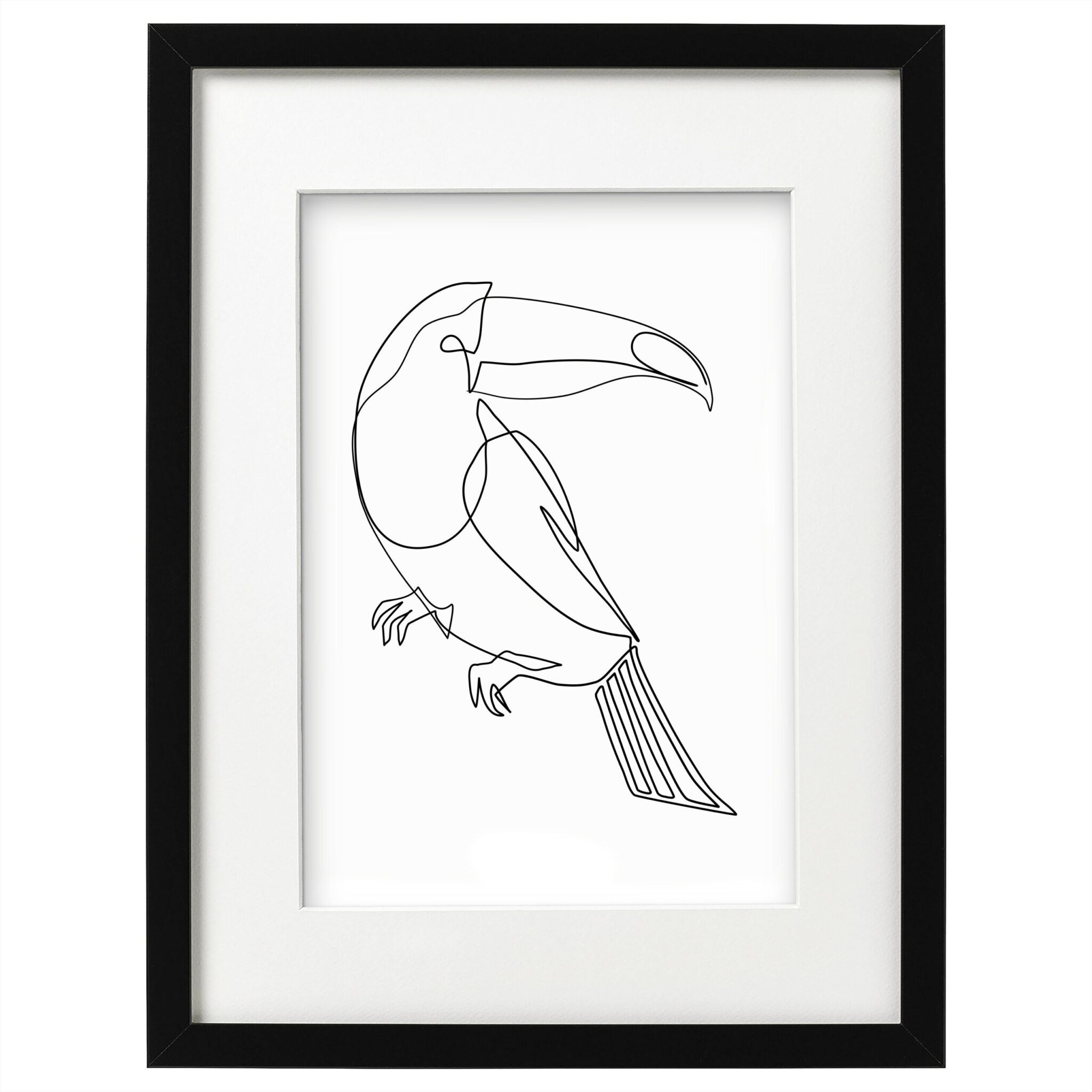 Image of art poster birdey - Weiss - ohne Text